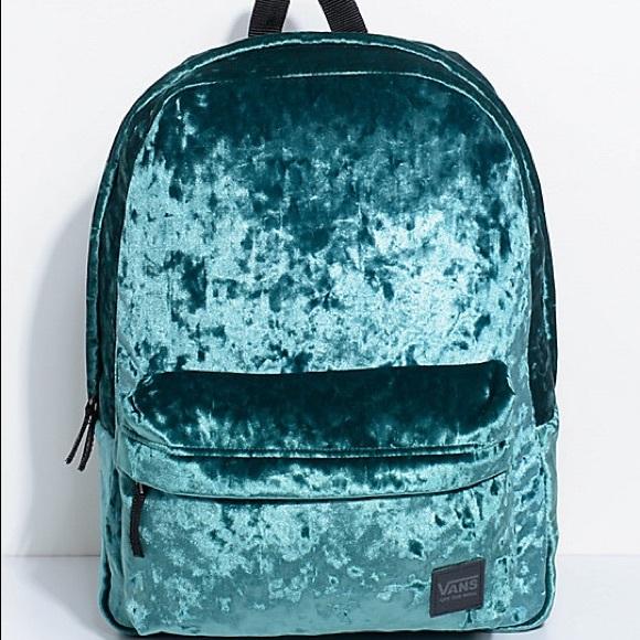 4a08ecd0fe7 Vans Bags | Velvet Backpack | Poshmark